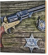 Us Marshall - American Justice - Cowboy Wood Print