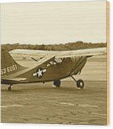 U.s. Military Recon Single Engine Plane Wood Print