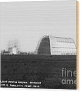 U.s. Naval Air Base Hangar One Is One Of The World's Largest Fre Wood Print