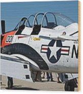 Us Navy Plane 001 Wood Print