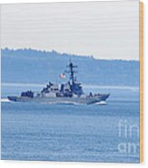 U.s. Navy Ship Wood Print