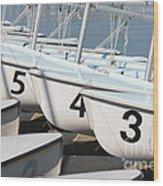 Us Navy Training Sailboats I Wood Print