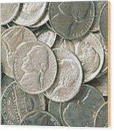 U.s. Nickels Wood Print