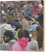 U.s. Senator John Kerry, Amidst Wood Print