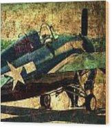 Us Ww II Grumman F4f Wildcat Fighter Plane Wood Print