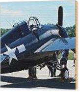 Us Ww II Fighter Plane Wood Print