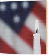 Usa, California Burning Candle Wood Print