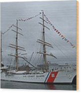 Usa Coast Guard Wood Print