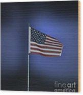 Usa Flag 09 Wood Print