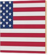 Usa Flag Wood Print by Tilen Hrovatic