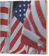 Usa Flags 01 Wood Print