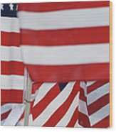 Usa Flags 02 Wood Print