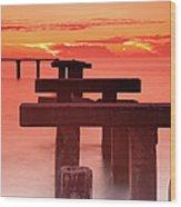 Usa, Florida, Boca Grande, Ruined Pier Wood Print