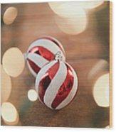 Usa, New Jersey, Jersey City, Christmas Wood Print