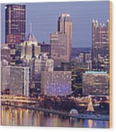 Usa, Pennsylvania, Pittsburgh, Cityscape Wood Print