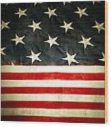 Usa Stars And Stripes Wood Print