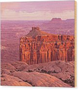 Usa, Utah, Canyonlands National Park Wood Print