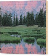 Usa, Utah, High Uintas Wilderness Wood Print