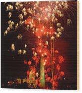 Usa, Washington Dc, Fireworks Wood Print
