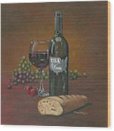 Usa Wine Wood Print
