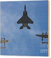 Usaf Heritage Flight Wood Print