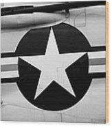 Usaf Star And Bars Insignia On A Mcdonnell F3b F3 Demon  Wood Print