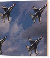 Usaf Thunderbirds Wood Print