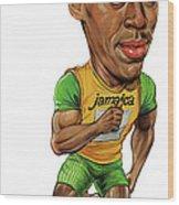 Usain Bolt Wood Print