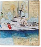 Uscg Alert Coast Guard Chart Map Art Peek Wood Print