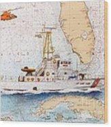 Uscg Sapelo Helicopter Fl Nautical Chart Map Art Peek Wood Print