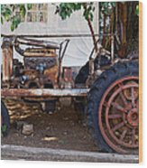 Used Tractor Wood Print