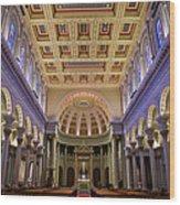 Usf Saint Ignatius Church In San Francisco Wood Print