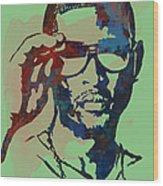 Usher Raymond Iv  - Stylised Pop Art Sketch Poster Wood Print