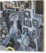 Usmc Av-8b Harrier Cockpit Wood Print