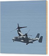 Usmc Osprey Over New York Wood Print