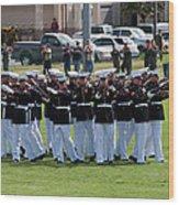 Usmc Silent Drill Platoon Wood Print