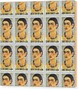 Usps  Frida Kahlo Wood Print