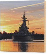 Uss Battleship Wood Print