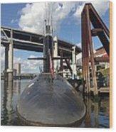 Uss Blue Back Submarine Wood Print