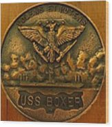 Uss Boxer Plaque Wood Print