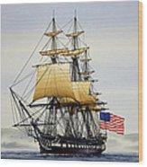 Uss Constitution Wood Print