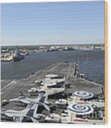 Uss Enterprise Arrives At Naval Station Wood Print