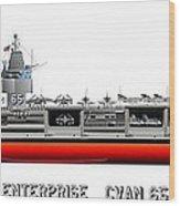 Uss Enterprise Cvn 65 1969 Wood Print by George Bieda