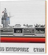 Uss Enterprise Cvn 65 1971-73 Wood Print