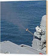 Uss Harry S. Truman Tests The Close-in Wood Print