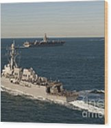 Uss James E. Williams Is Underway Wood Print