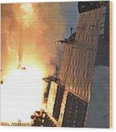 Uss Michael Murphy Fires An Rim-66m Wood Print