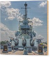 Uss North Carolina Wood Print