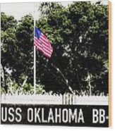Uss Oklahoma Bb-37 Wood Print by Lisa Cortez