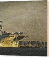 Uss Yorktown Cv10 Wood Print